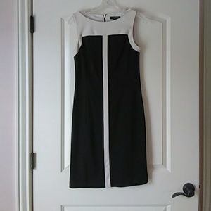 Jcrew Black and white dress