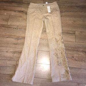 Dana Buchman Embellished corduroy slacks