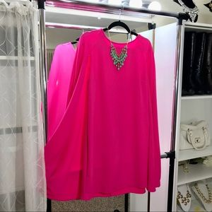 Dresses & Skirts - Hot Pink Cape Dress