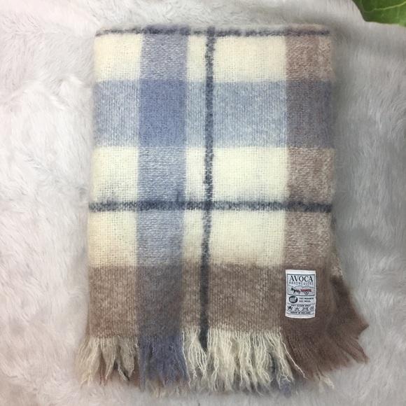 Avoca Handweavers Mohair Wool Throw Blanket Plaid
