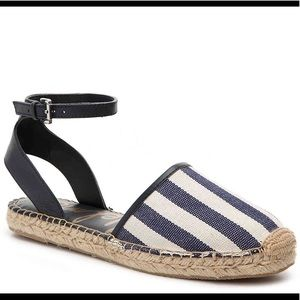 Sam Edelman navy & white espadrilles sandals