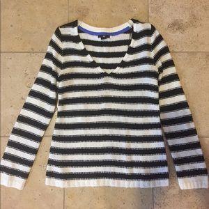 H&M black and white stripe sweater