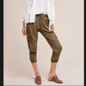 Anthropologie Cloth & Stone Trimmed Cargo Joggers