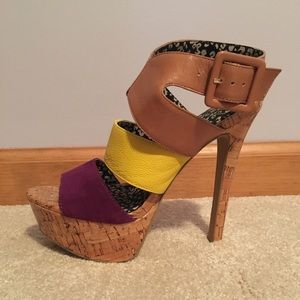 Jessica Simpson Multi Colored Sandals