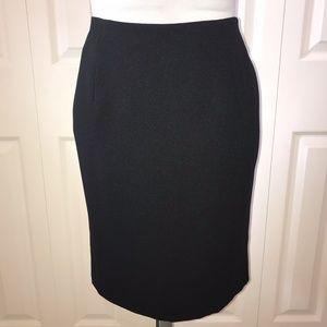 NWOT Hugo Buscati Black Pencil Skirt sz 10 runs Sm