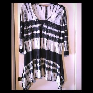 Long sleeve tunic tie-dye with bling