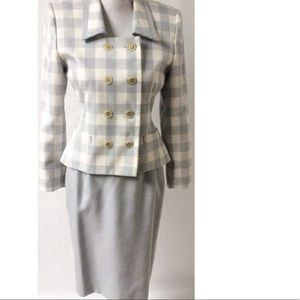 Two Piece Plaid Dress Size 2P