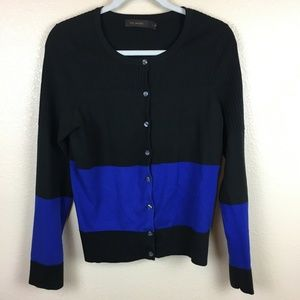 The Limited Cardigan Sweater Color Block Stripe