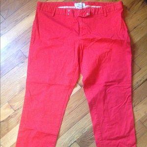 Red Gap slim crop slacks. Size 14.