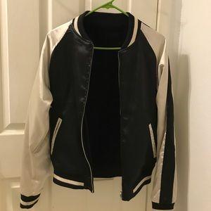 reversible Brandy Melville bomber jacket