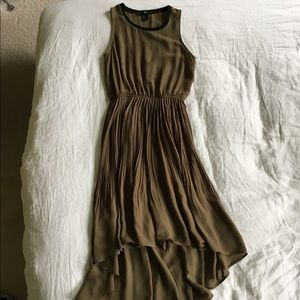 H&M High-Low Olive Green Dress
