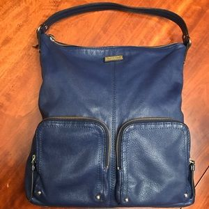 Kate Spade blue leather shoulder bag