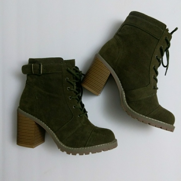 d23230bbc714d ShoeDazzle Shoes   Carryn Lace Up Bootie Nwt   Poshmark