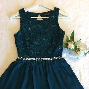 9d416e11b Xtraordinary Dresses - Xtraordinary Sequin Lace Bodice Skater Dress