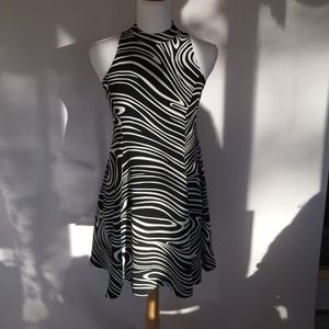 Betsey Johnson Black/White Zebra Dress