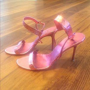 Celine pink metallic heels 39
