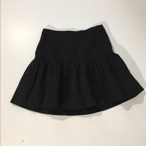 J. Crew Black on Black Skaters Mini Skirt