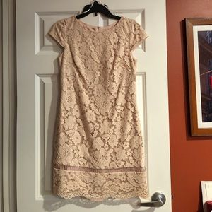 Vince Camuto Lace Underlay Dress