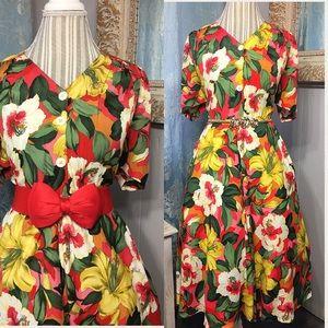 Vintage bold Floral Dress