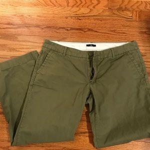 EUC Gap 14P Olive Green Khaki Pants Wide Leg