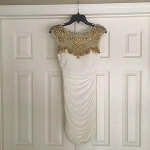 White Formal w/ Gold Accents