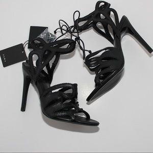 Zara Sexy Strappy Leather Stiletto Sandal