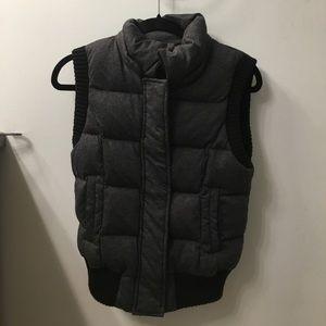 BCBG charcoal grey vest