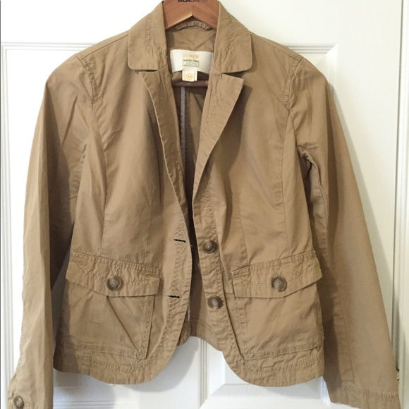 J Crew Jackets Coats Jcrew Women Sz Xs Chino Jacket Poshmark