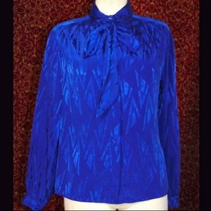 THE ASCOT COLLECTION by LADY ARROW VTG blouse 10