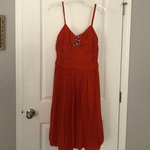 Stunning BCBG orange cocktail dress size 8