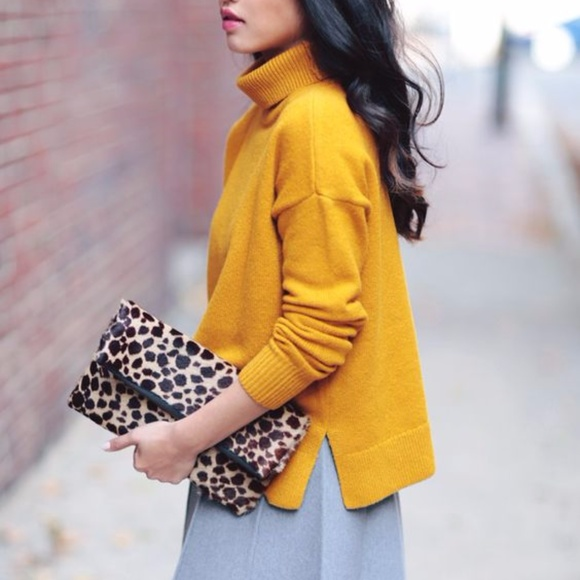 Loft Sweaters Mustard Yellow Turtleneck Sweater Poshmark