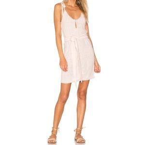 Tularosa • Meave Shoulder Tie Pink Knit Tank Dress