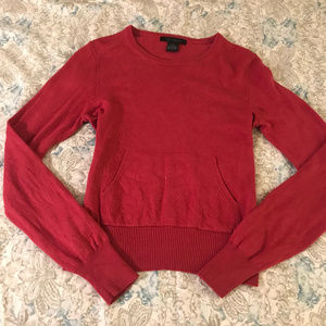 The Limited Red Silk Cashmere Pouch Sweater