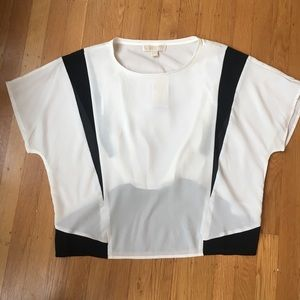 Black and white Michael Kors Top