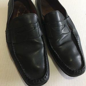 Allen Edmonds Black Leather Brooker Drivers Shoes
