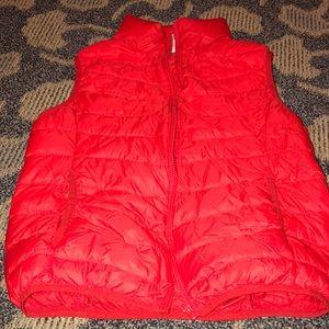 Red bubble vest