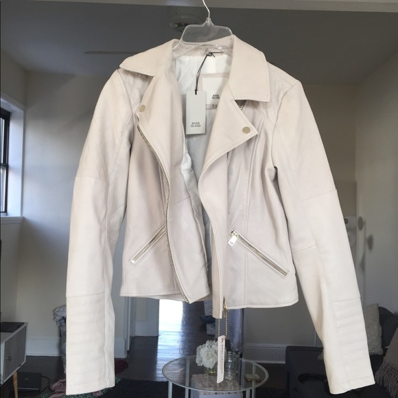 River Island Jackets & Blazers - White River Island leather jacket