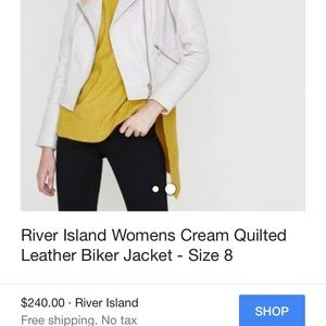 River Island Jackets & Coats - White River Island leather jacket
