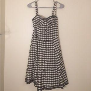 Betsey Johnson black and white dress - size 4!