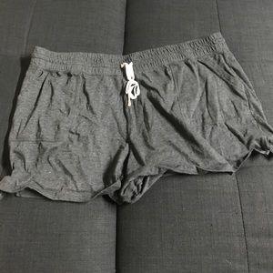 Pants - Gray short sleep shorts Sz 3x