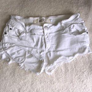 Brandy Melville White Cutoff Shorts!