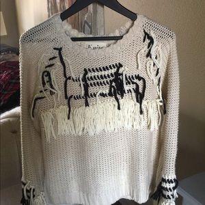 For Love & Lemons Knitz Denver fringe sweater.