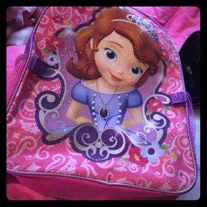 16x12 Princess Sofia back pack brand new