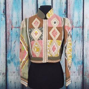 Nanette Lepore Cropped Linen Jacket