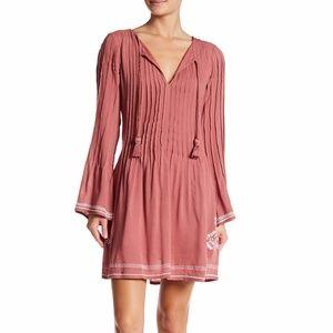 Tularosa AUDREY Tasseled Embroidered Pink Dress