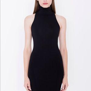 AMERICAN APPAREL black turtleneck tight mini dress