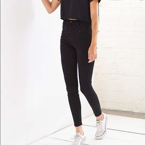 High waisted black jeans skinny fit