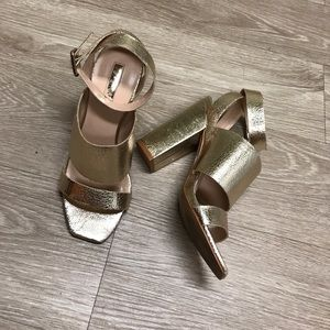 Topshop shimmery champagne heels