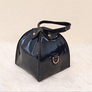 Handbags - Patent Faux Leather Bag.