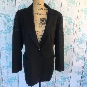 Vintage Escada Margaretha Ley black wool blazer